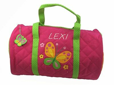 Personalised Childrens Toddler 'Butterfly' Duffle Bag. Back To School.