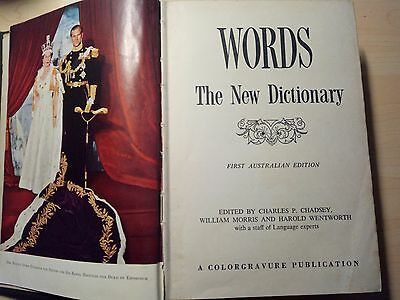 WORDS - The New Dictionary. First Australian Edition. Good condition.
