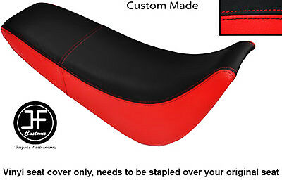 Red And Black Automotive Vinyl Custom Fits Sukida Gy 200 Dual Seat Cover Only