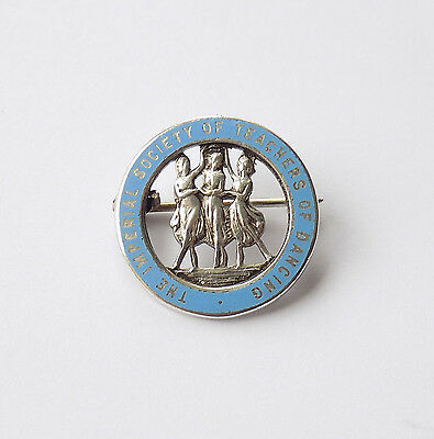 Silver & Enamel Brooch, Badge Imperial Society Teachers Of Dance.vaughton & Sons