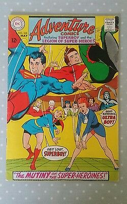 Vintage D.C. Adventure Comic - Number 368 - May 1968 - Silver Age / Superman.