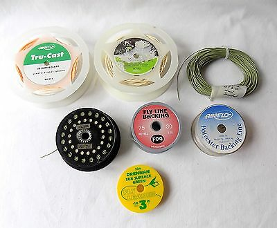 Fly, Trout, Salmon Fishing Quantity Of Line, Backing, Part Spools.