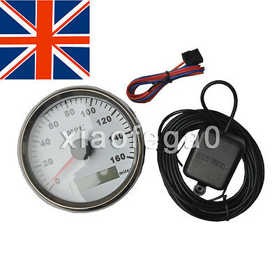 GPS MPH Speedometer Gauge Odometer White Background for ATV UTV Motorcycle Marin
