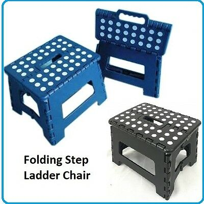 1X Folding Step Ladder Children Kids Footstool Stepladder Foldable Kitchen Chair