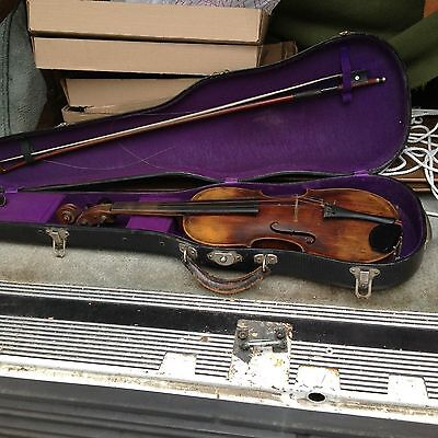 Vintage Violin & Case / Metherall / Tuner Repairer Of Instruments Bloomsburg Pa