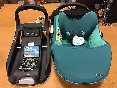 Maxi-Cosi Prezi Infant Baby Car Seat with Base 11-30lbs in Courageous Green