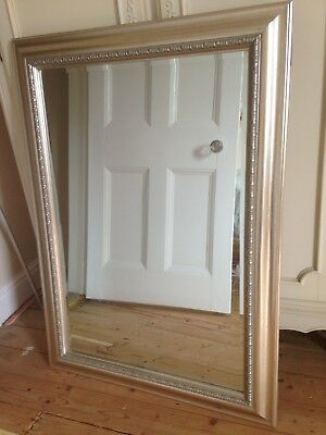 Large bevelled mirror with gold and cream frame no for Mirror 50 x 30