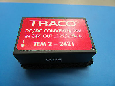 TRACO POWER  DC/DC-Wandler TEM 2-2421 IN 24V Out +-12V 80mA