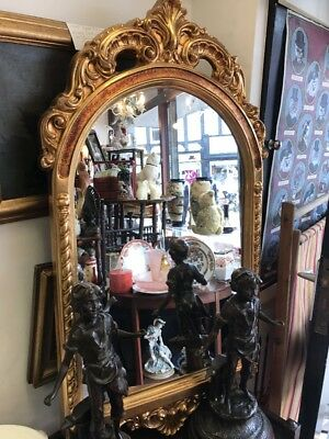 Gilt Framed Ornate Mirror