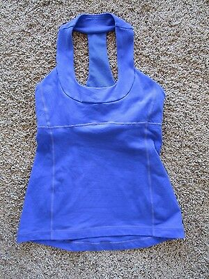 Lululemon  Royal Blue Bra Lined Women's Workout Tank Shirt Size M