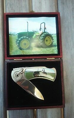 John Deere Collectible Pocket Knife in Wooden Box