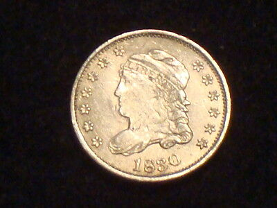 1830 Capped Bust Half Dime Vf+/xf Hard To Get Beauty -  Full Liberty