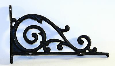 Antique Style Cast Iron Brackets Garden Hardware Rustic Shelf Bracket Black