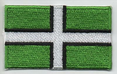 DEVON County Flag - Iron On Sew On High Quality Patch