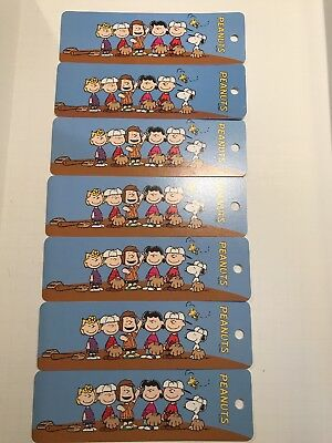 Vtg 2008 ANTIOCH PEANUTS GANG SNOOPY BASEBALL TEAM BOOKMARKS (LOT of 7) NOS