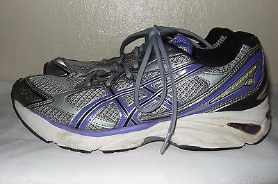 ASICS Gel Foundation 8 Women's Purple/Silver/White Running Shoes Size 10