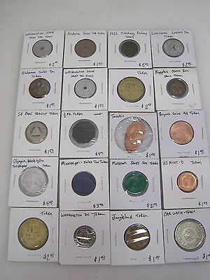 (20) Vintage Tokens - Transit Railway Railroad + Others From Collection B7049