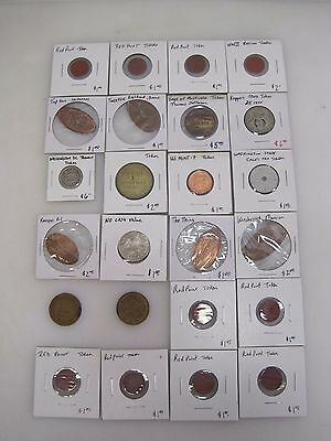 (24) Vintage Tokens - Transit Railway Railroad + Others From Collection B7050