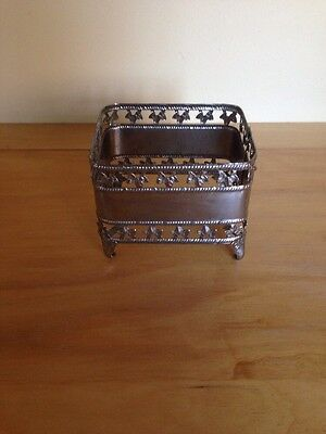 Beautiful Silver Coloured Napkin or Serviette Holder Vintage Collectable