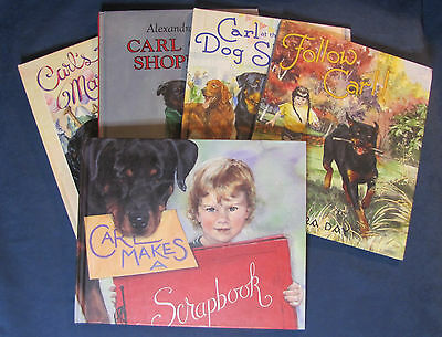 Lot of 5 Carl the Dog HC Picture Books by Alexandra Day - Free Shipping