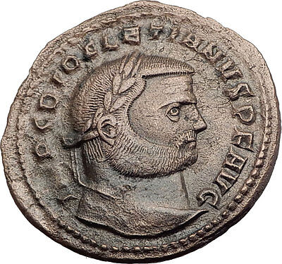DIOCLETIAN 288AD Antioch Big Follis Authentic Ancient Roman Coin Genius i63201