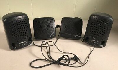 Vtg Sony SRS-p3  SRS-5 mini Speakers  System