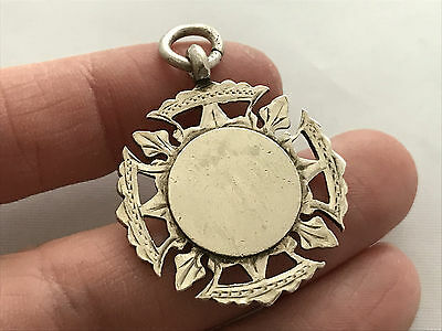 Sterling Silver Fob Medal, Not engraved, Made in 1915