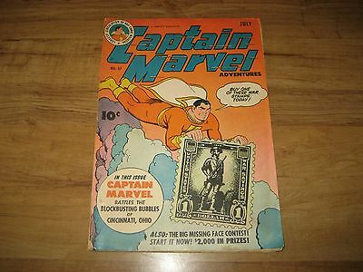 Captain Marvel Adventures #37-1944 Fawcett-FN