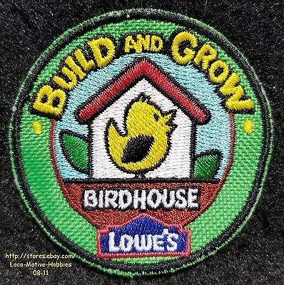 LMH PATCH Badge  BIRDHOUSE Bird House  LOWES Build Grow Kids Clinic Green 2""