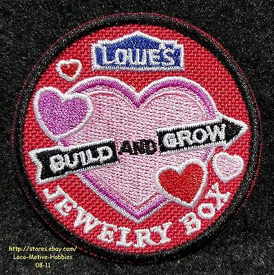LMH Patch 2009 JEWELRY BOX Holder Organizer LOWES Build Grow Kids Clinic Heart r
