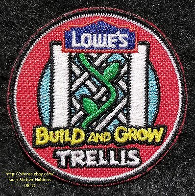 LMH Patch  2010 TRELLIS PLANTER Plant Vine  LOWES Build Grow Kids Clinic red