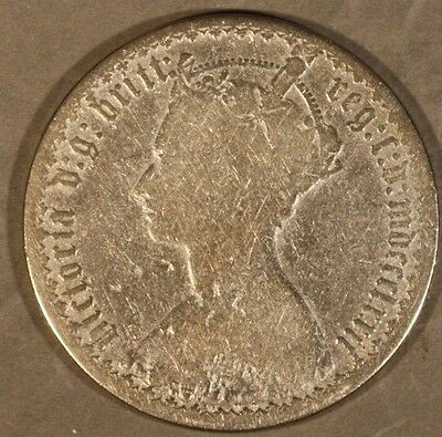1872 Great Britain Florin Silver Gothic Well Circulated** FREE U.S SHIPPING **