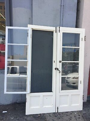 Santa Barbara Doors French Doors Built-In Screens 77 1/4 X54-1/2""