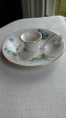 Japan Porcelain Candlehoder with drip plate and Handle--PWF