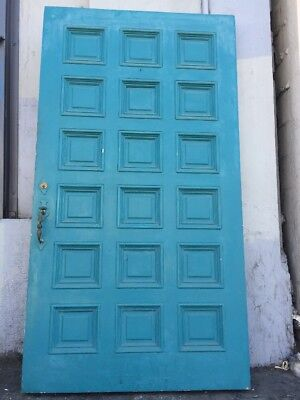 "Front door Old Spanish Revival Style Solid Wood built in Speakeasy 77""x 42"""