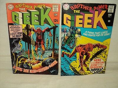 Brother Power the Geek 1-2 COMPLETE SET Solid! 1st app! 1968 DC Comics (s 9171)