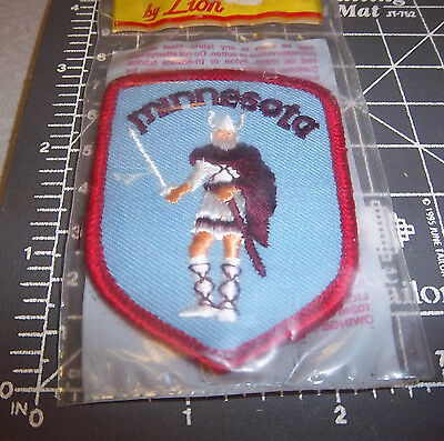 Minnesota Embroidered patch, beautiful Viking!, great collectible