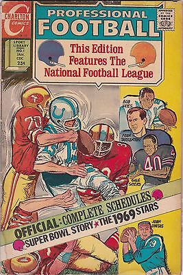 PROFESSIONAL FOOTBALL in CHARLTON SPORT LIBRARY #1 VG  CHARLTON COMICS 1969-1970