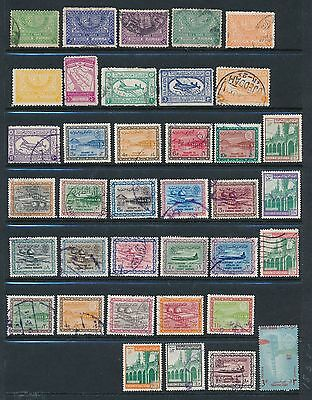 Saudi Arabia **35+ DIFFERENT (1946-1969)**; MH & USED; AS SHOWN; CV $50+