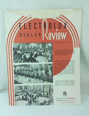1936 Electrolux Dealer Review Periodical Servel Refrigerator Division 30 Pages