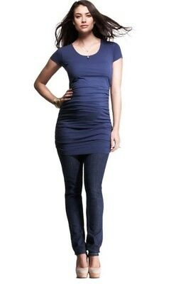 Isabella Oliver Maternity Cap Scoop Top -  Rich Navy size 4