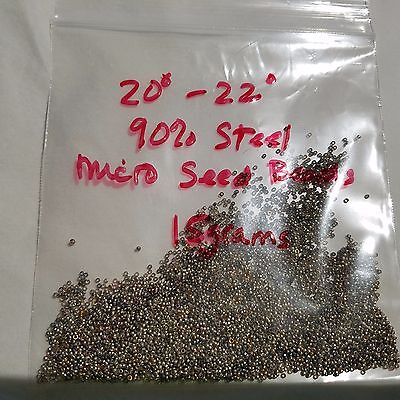 Antique Victorian  Original Brass Steel Assorted  Micro Seed Bead 20/0-22/0