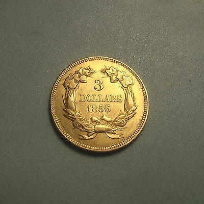 Rare 1856 Gold $3 Three Dollar Princess Head Coin ~ BU ~