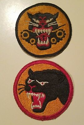 Lot Of 2 Vintage Military WW2 Black Panther / Tiger Patches RARE