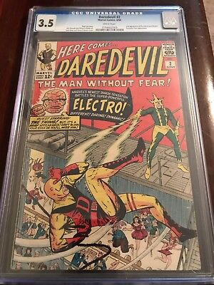 Daredevil #2 CGC 3.5 Key 2nd DD & Electro, Old Suit (xcbcs)