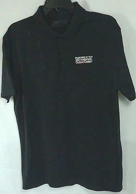 Nike Golf men's shirt Dri Fit size L black 'UT MD Anderson Center' embroidery
