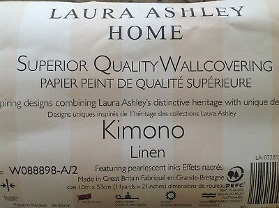 4 Rolls of Laura Ashley Wallpaper