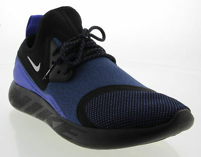 Men's NIKE LunarCharge Blue & Black Synthetic Athletic Shoes Size 10