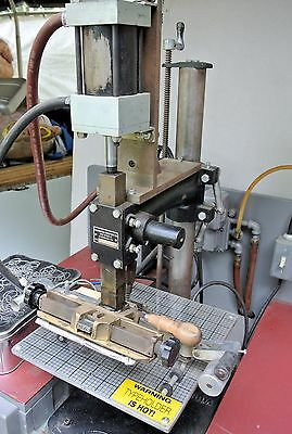 Kwikprint Model 86 A/A Air Assisted Hot Foil Stamping Machine w/Production Bench
