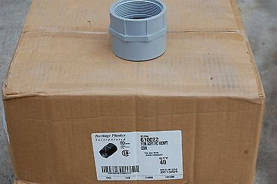 """Lot of (9 ea ) 3"""" PVC Electrical Female Adapters"""